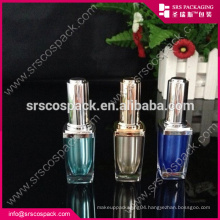 Acrylic Beauty Bottle And Plastic Square 8ml Nail Care With Brush Empty Nail Oil Bottle