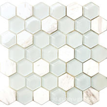 hexagon marmer mosaik
