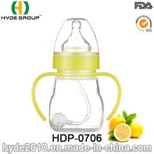 Botella de alimentación plástica libre del bebé de 150ml BPA (HDP-0706)