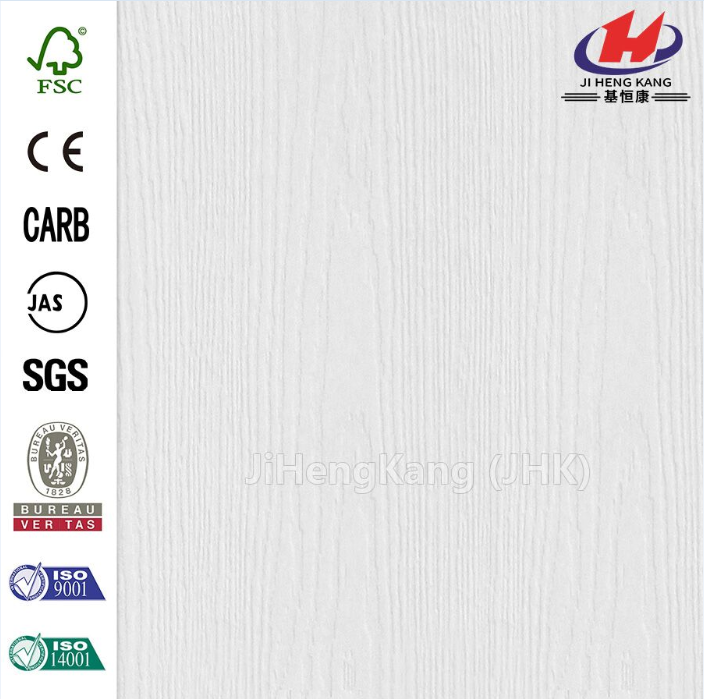 Mordern  Wood Grain Texture White Primer Door Skin