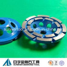 Doble borde pulido/taza rueda de diamante para piedra/hormigón