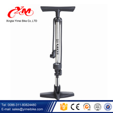 Wholesale hot sale air pump bike/best price bike pump with gauge/Yimei manufacture foot pump for cycle
