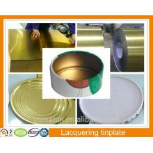 Golden color lacquering caps