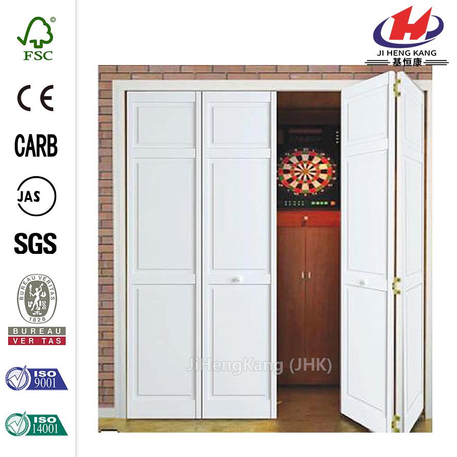 China solid core wood interior closet bi fold door for Door manufacturers