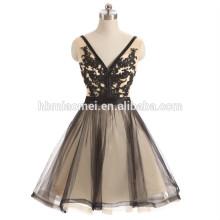 Las mujeres grandes sin espalda profundas del color negro v profundo del cuello visten el vestido de noche 2017
