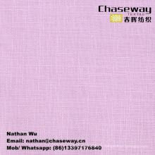 Tissu extensible en tissu lisse Slub de texture de lin / 95% coton + 5% Spandex