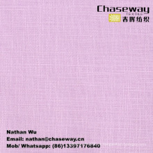 Textura de linho Slub Tecido liso Tecido elástico / 95% Algodão + 5% Spandex
