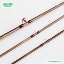 8FT 4wt Hexagon Tonkin Bamboo Fly Rod