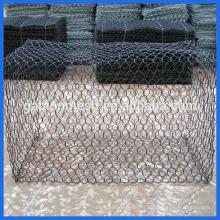 Técnica tejida y material de alambre de acero galvanizado malla de gabión