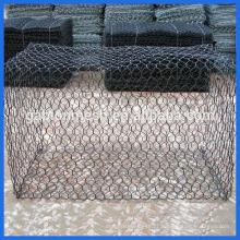 Técnica de tecido e material de arame galvanizado malha gabião