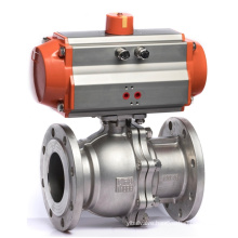 Q641F-16P-DN25 Flange SS304 1 inch 1000psi Stainless Steel Water Pneumatic Ball Valve