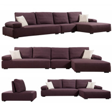 Recliner Headrest Fabric Corner Sectional Sofa Set