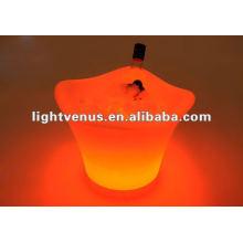 Venda direta da fábrica alta brilhante LED balde de vinho