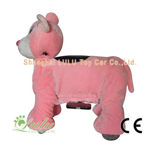 Pink Big Ear Mouse Coin Operated Rides
