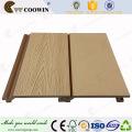 Placa de painel decorativa de madeira plástica parede composta