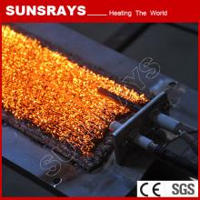 Chauffage industriel brûleur infrarouge avec brûleur de fibre métallique