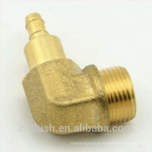 High precision cnc machining lead free brass connector for hose