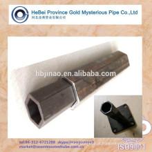 Baixo carbono aço HEX em forma de tubo de aço sem costura (solda bem)