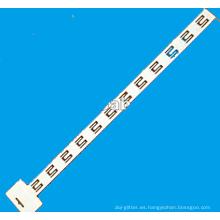 Tira de colgar blanca con 12 ganchos