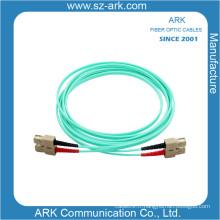 Câble optique fibre optique aquatique duplex Om3 / 150 avec connecteur Sc