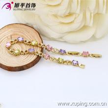 Xuping moda 14k oro de color pulsera de circonio de lujo (73712)