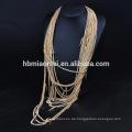 2017 Statement Schmuck Gold gefüllt Kette Perle Quaste Halskette