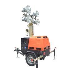 Diesel generator light tower with led lights mobile light bulb car