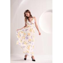 Vestido largo de verano con estampado floral para mujer