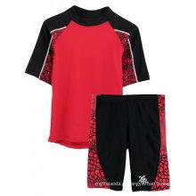 Rashguards Boys e Shorts de joelho com proteção UV Protection Swimwear