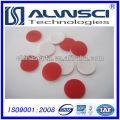 11мм Красный ПТФЭ Белый силикон перегородки для Виал 2 мл Обжимной Анализ