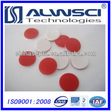 11mm Red PTFE White Silicone Septa for 2ml Crimp Vial Analysis