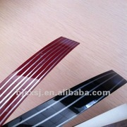 popular selling extrusion 2*19 high glossy color laminate edge banding plastic products