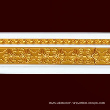 W13cm PS Gold Crown Mouldings Cornice Building Material