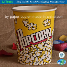 32oz Disposable Paper Popcorn Barrel