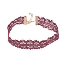 Short Lace Choker Wide Flower Lace Necklace For Women