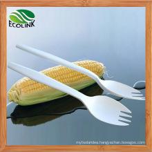Disposable Biodegradable Cornstarch Fork Spoon 140mm