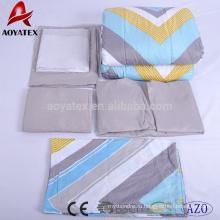 Мягкий домашнего использования полиэфира micrfiber одеяло и оптовая утешитель наборы постельных принадлежностей
