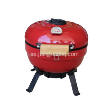 Mini Kamado Egg Grill In Red