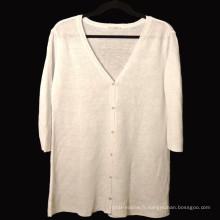 15PKLS02 2016 dernières femmes 100% lin chandail cardigan