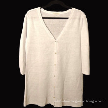 15PKLS02 2016 latest women 100% linen sweater cardigan