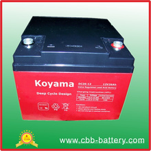 12V 26ah Deep Cycle AGM Battery for UPS/Surge Protector