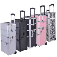 Aluminum Rolling Makeup Cosmetic Train Case for Sale (HX-A0732)