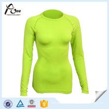 Camada de Base de Mulheres Undershirts Skins Térmicas Customzied