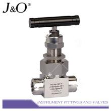 Válvula de aguja Instrumrnt de alta presión de acero inoxidable 316