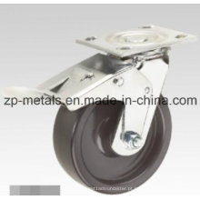 PP preto resistente com roda de rodízio de freio