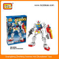 Plástico bloque de construcción robot kit educativo juguete