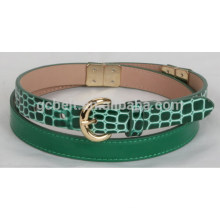 Woman 1.8cm fashion imitation crocodile PU belt