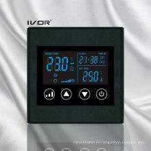 Interruptor táctil del termóstato del acondicionador de aire de 4 tubos en marco plástico (SK-AC2300L8-4P)
