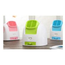 Ventilador de aire acondicionado de escritorio, Mini ventilador de oficina de verano, Ventilador USB portátil de viaje 290 G