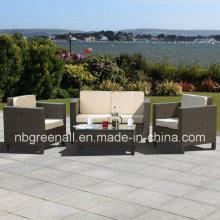 PE Rattan moderno al aire libre ocio patio sofá muebles de jardín